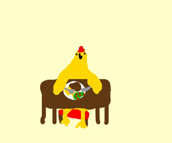 chicken at diner