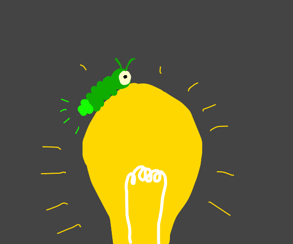 glow worm on lightbulb