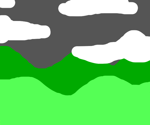 partially cloudy hilly landscape