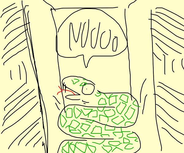 Snake Is In Room About To Be Crushed By Walls
