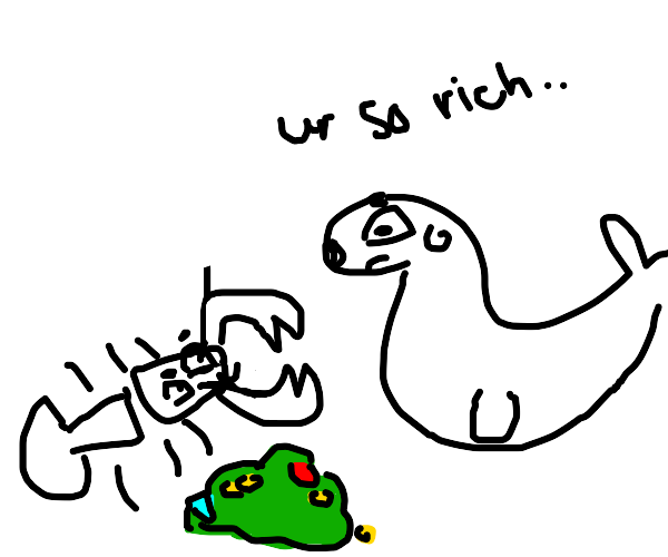 seal meets wealthy lobster and becomes sad