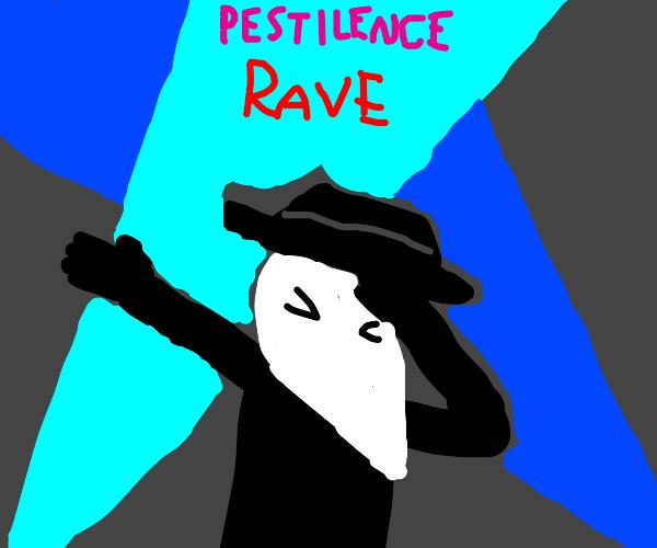 Plague doctor loves techno
