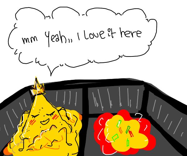Doritos king/queen loves nacho sauce
