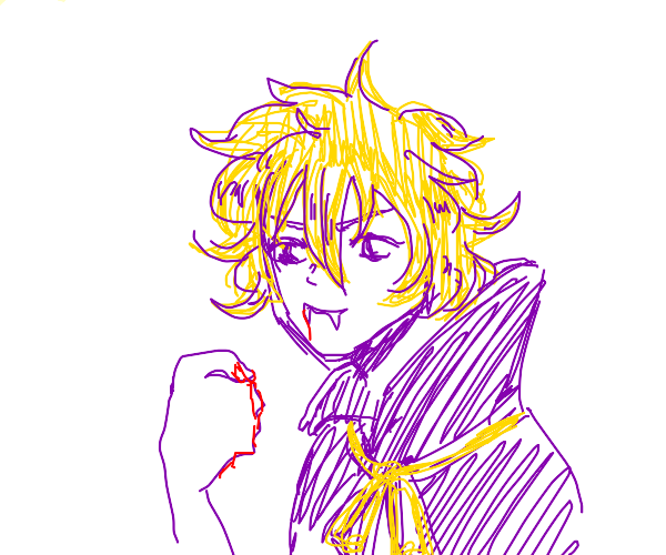 blond purple vampire