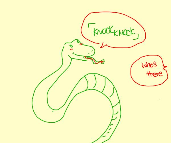 snake telling a joke