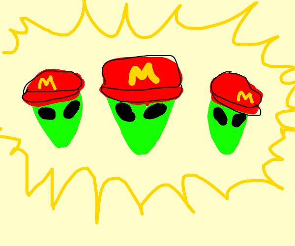 Mario aliens