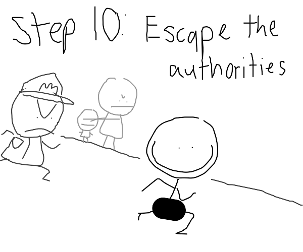 step 9: run naked in the streets