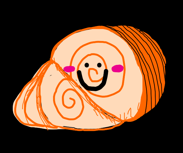 Spiral ham with face