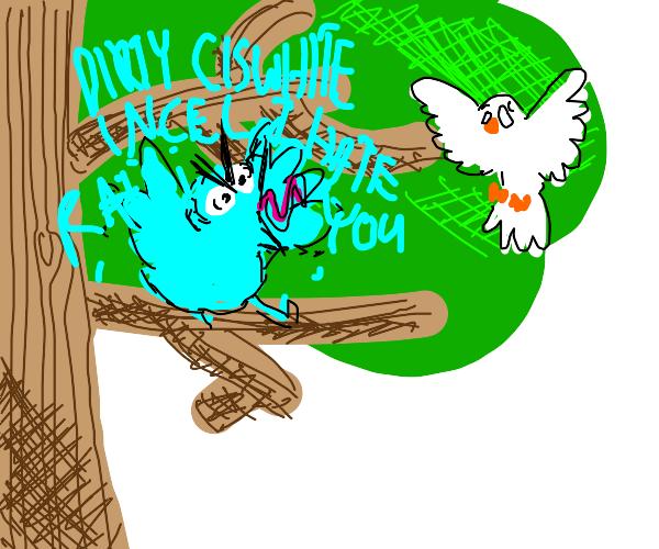 Twitter bird in tree