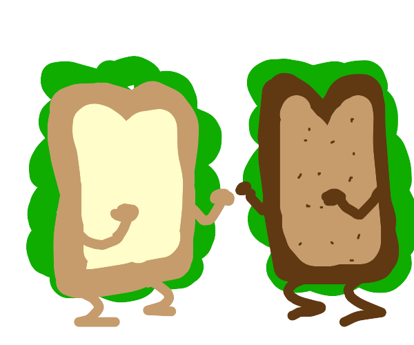 Two Sandwiches Fighting
