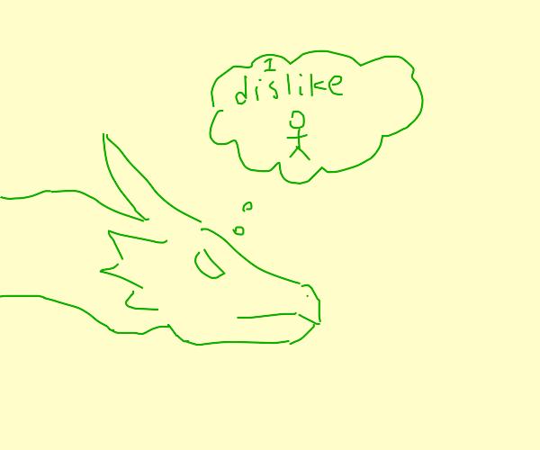 Green monster doesn't like humans