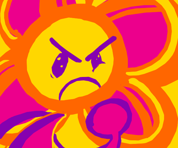 bfdi flower is angry af