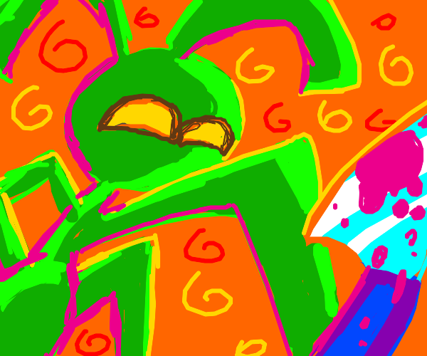 Weird mantis alien thing loves stabbing peopl