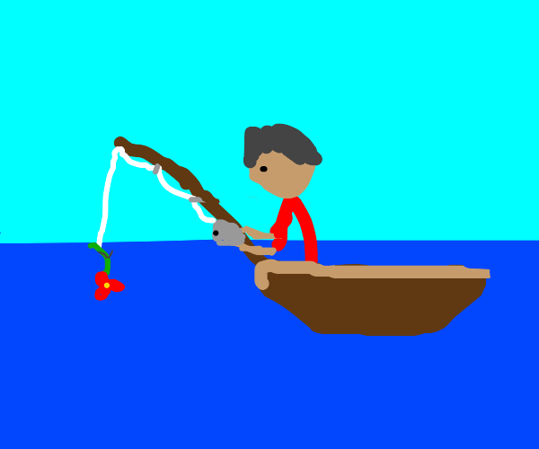 Fishing for a Flower