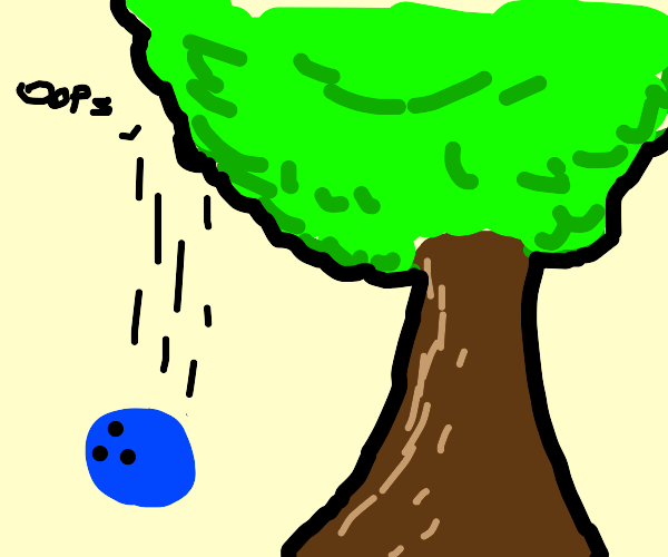 Accidentaly droppin my bowlingball off a tree