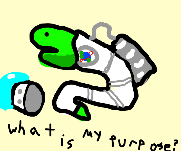 Space Snake wondering why it exist
