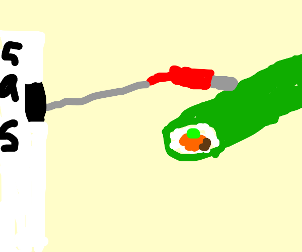 Pumping gas into a sushi roll