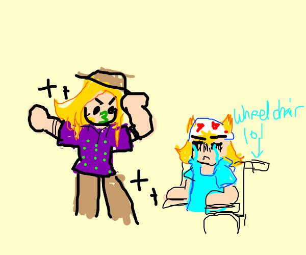 Gyro and Johnny posing