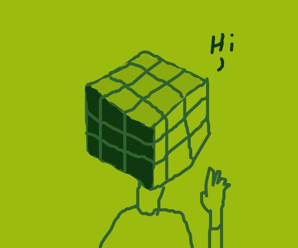 Rubix cube say Hi