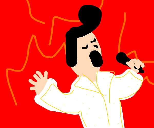 elvis playing music in hell