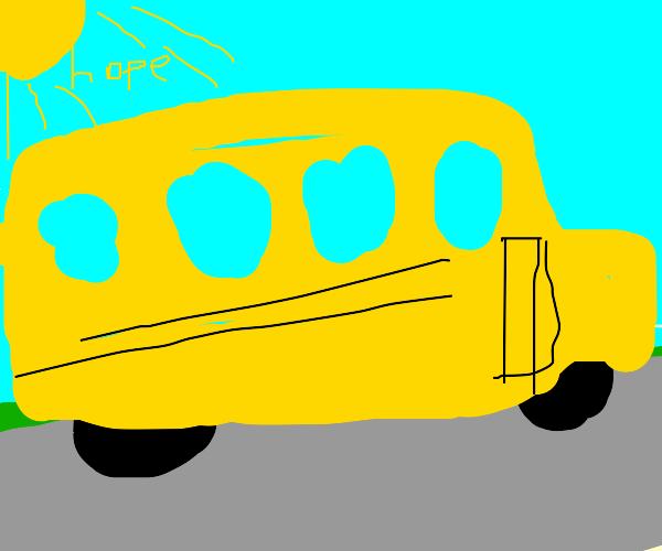Sun shines hope on school bus
