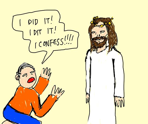 man confesses to Jesus