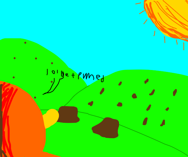 The Lorax discovers all trees chopped down