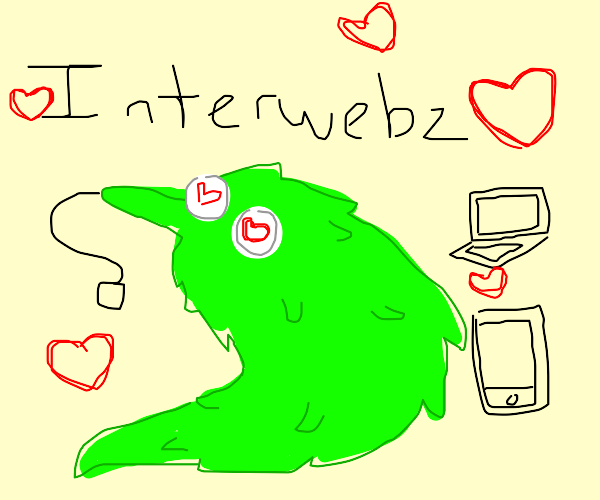 worm loves teh interwebz