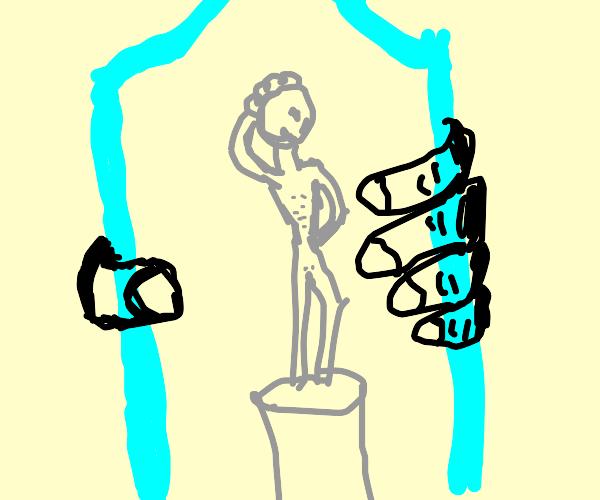 Statue in a Bottle