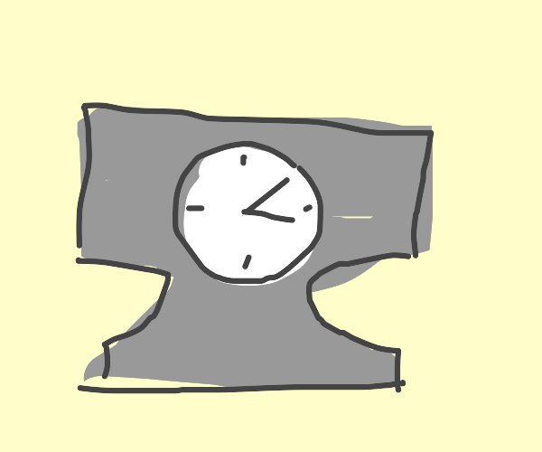 Anvil alarm clock