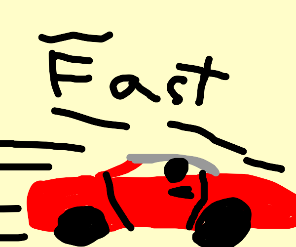 Superfast red car