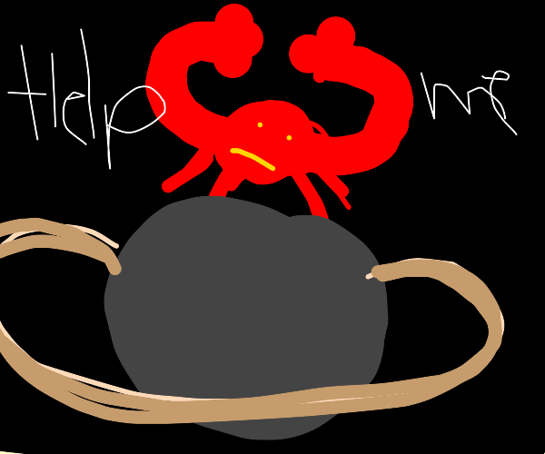 Crab on Saturn