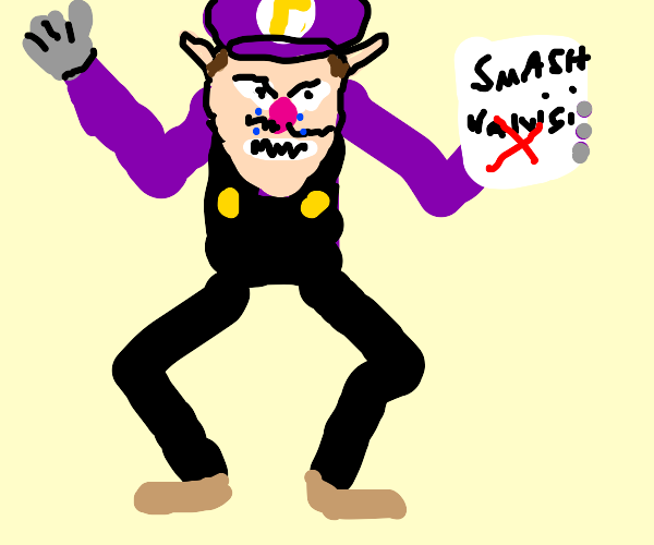 Waluigi rejected for Smash