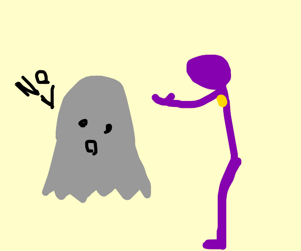 casper says no to purple pacman ghost