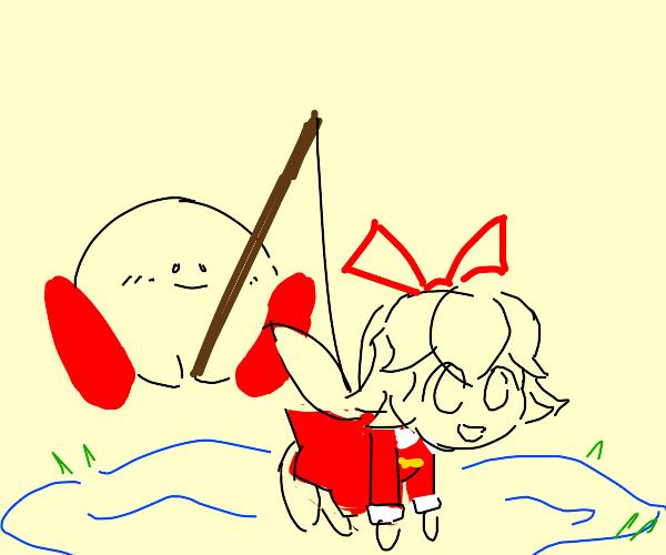 Fishing for a Ribbon