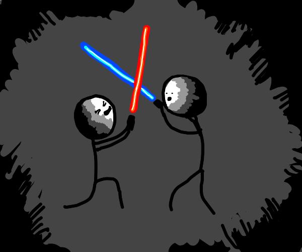 Swag lightsaber fight