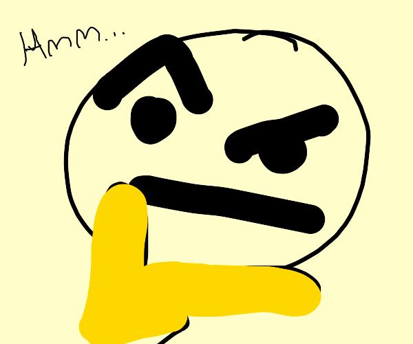 Mr. Bee is thinking hard