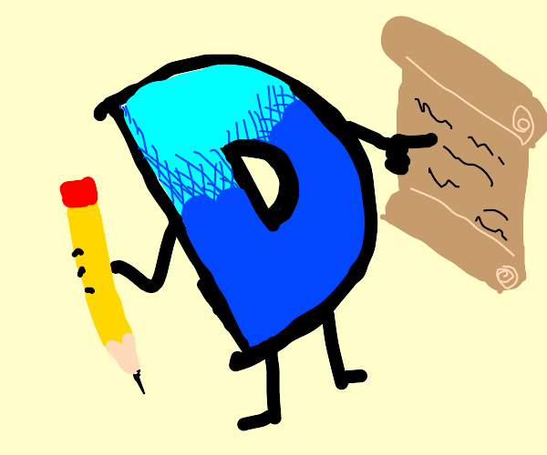 Drawception D shows you a scroll