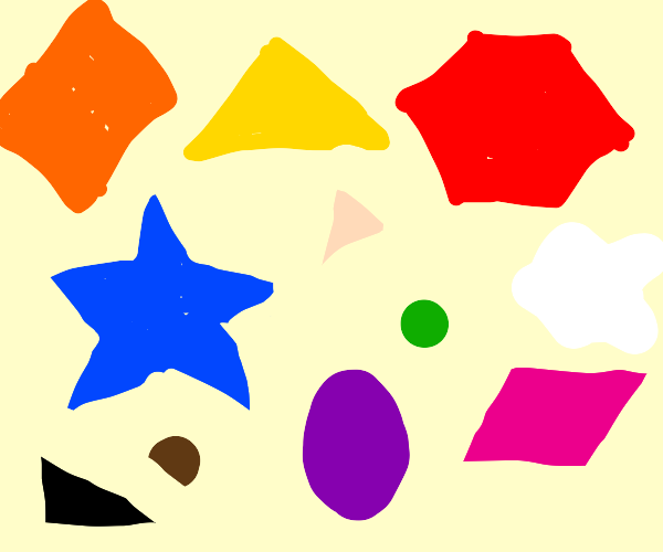 random colors and shapes