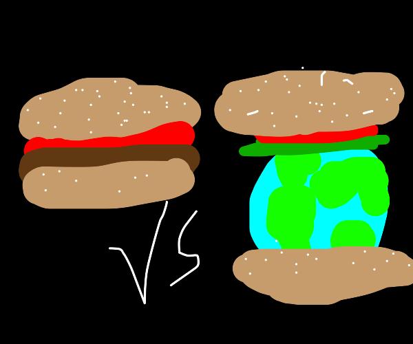 A Burger w/o Lettuce, A World w/o Lettuce