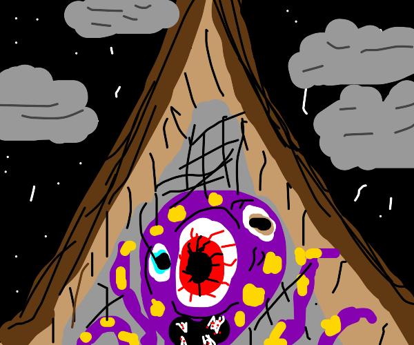 Tentacle monster in attic