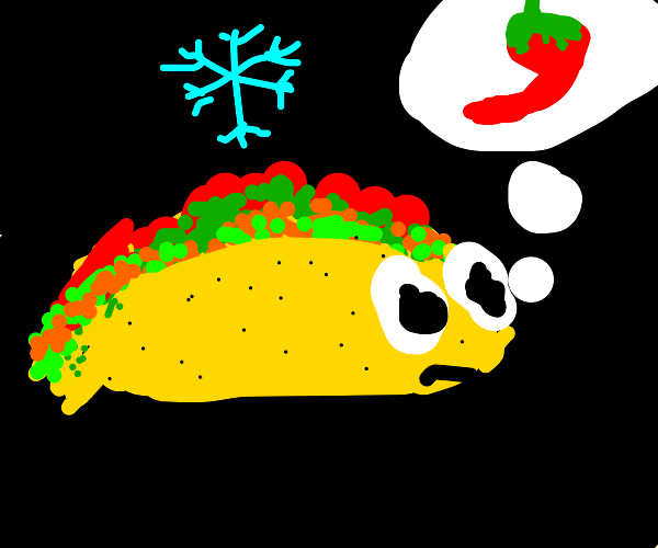 cold taco thinks about hotsauce