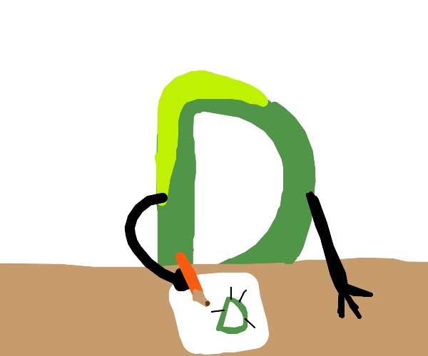 green drawceptiond drawing a drawception d