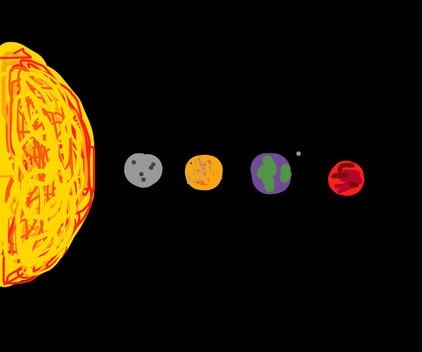 half the solar system