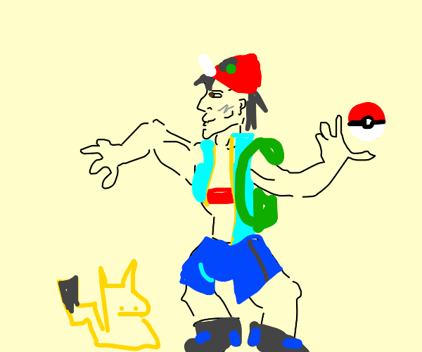 Ash Ketchum if he was Chad