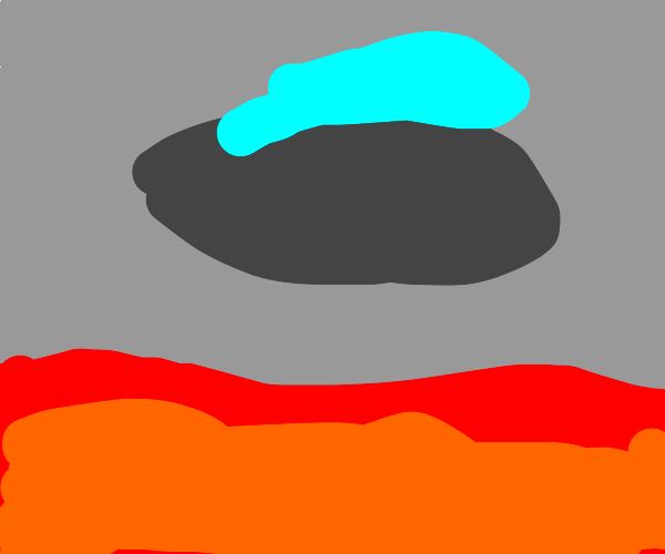 ufo in lava