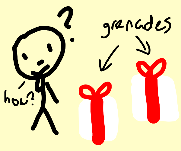 man is perplexed that all gifts are grenades