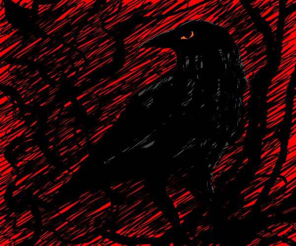 Satanic crow