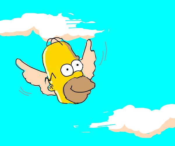 Homer Simpson's Flying Head