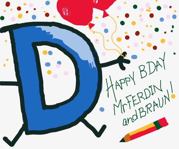 D says happy birthday to mr Bcaun
